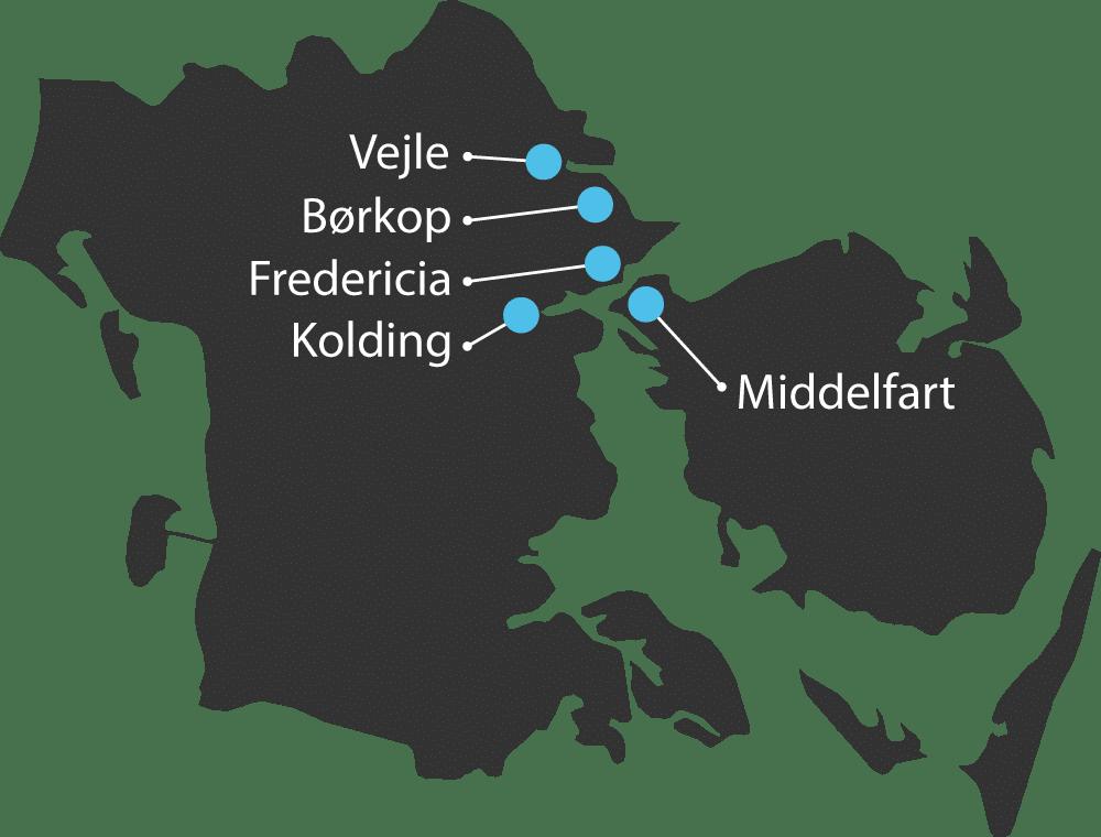 Vinduespudser i Fredericia, Middelfart, Børkop, Vejle og Kolding